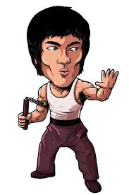 Bruce Lee Sticker Plastic Cell