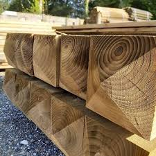 Pressure Treated Wooden Gate Fence Post 1 8m Ruby 3 X 3 Various Pack Sizes 1