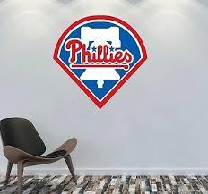 Philadelphia Phillies Logo Wall Decal Mlb Sports Sticker Decor Color Vinyl Cg843 Ebay