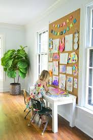 How To Make A Giant Cork Board Wall For Kid Art Art Display Kids Cork Board Wall Kids Artwork