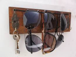 sunglasses holder and key rack wall