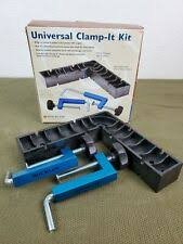 Rockler 733541 Universal Clamp It Kit 3pce 12 7mm 1 2 146mm 5 3 4 For Sale Online