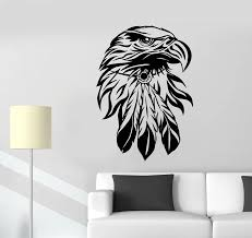 Bald Eagle Wall Decal Living Room Home Interior Decor Bird Head America Symbol Stickers Bedroom Animal Vinyl Wall Sticker D037 Wall Stickers Aliexpress