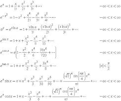 taylor series expansions of exponential