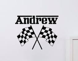Racing Wall Decal Etsy