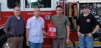 Fearnots Volunteer Fire Companyreceives donation to help save pets |  community | standardspeaker.com