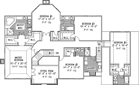 european style house plan 6 beds 5