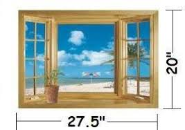 Buy Ocean View Faux Window Beach Tropical Blue Sea Removable Wall Decor Decal Stickers In Cheap Price On Alibaba Com