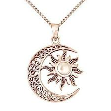 celtic moon and sun 14k rose gold over