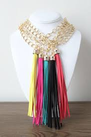leather tassel necklace molly suzanne