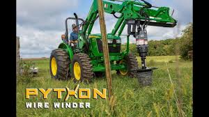 Roll Up Fence Wire The Easy Way Python Wire Winder Testimonial Youtube