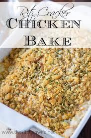 Ritz Cracker Chicken Bake Recipe - The ...