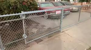 Chain Link Fence And Rolling Gate Youtube