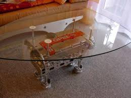 are turning old car engines into tables