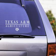 Texas A M Aggie Agriculture Decal White Aggieland Outfitters