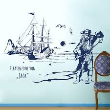 Wall Decal Pirate Island Treasure With Custom Name M1643 Wall Decals Bumper Sticker Murals Bags Cups Backpacks And Many More At Www Deinewandkunst Com
