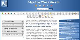 solving linear equations worksheet math