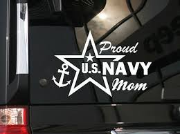 Proud Mom Us Navy Vinyl Car Decal Sticker 7 W With Star 4 95 Picclick