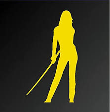Amazon Com Kill Bill 5 The Black Mamba Silhouette Decal Sticker For Cars Laptops Tablets Skateboard Yellow Computers Accessories
