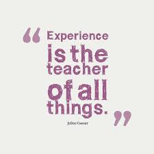 quotes about gain experience quotes