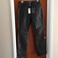 gap pants jumpsuits leather bootcut