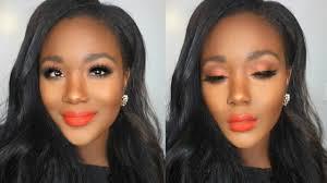 spring 2016 makeup tutorial orange eyes