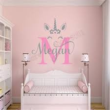 Custom Name For Kidsroom Wall Sticker Beauty Unicorn With Name Poster Vinyl Art Removeable Mural Fashion Ornament Ly911 T200601 Nursery Wall Stickers Order Wall Decals From Xue10 11 66 Dhgate Com