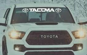 Tacoma Windshield Decal Vinyl Sticker Toyota Window Graphics Trd Graphics Ebay