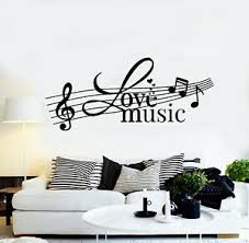 Vinyl Wall Decal Music Love Clef Musical Notes Melody Stickers Mural G1773 Ebay