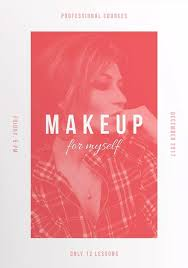 makeup courses free flyer and poster