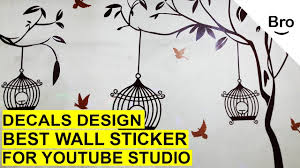 How To Stick A Wall Sticker On Your Wall In 5 Minutes Wall Decals Easy Diy Youtube