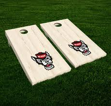 Nc State Wolfpack Wolf Vinyl Cornhole Decal Logo Wall Sticker 12 Set Of 2 For Sale Online Ebay