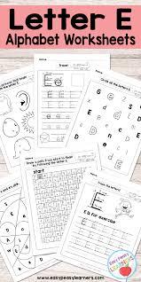 letter e worksheets alphabet series