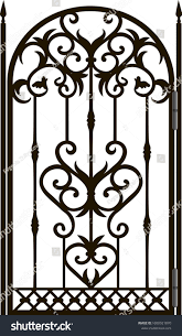 Forged Fence Gothic Door Vector Design Stock Vector Royalty Free 1600921870