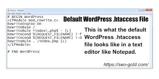 default wordpress htaccess file