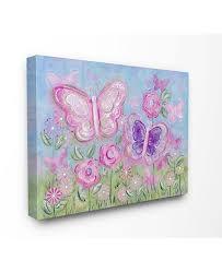 Stupell Industries The Kids Room Pastel Butterflies In A Garden Canvas Wall Art 30 X 40 Reviews All Wall Decor Home Decor Macy S