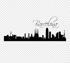 Barcelona Skyline Wall Decal Poster Silhouette Animals Text Png Pngegg
