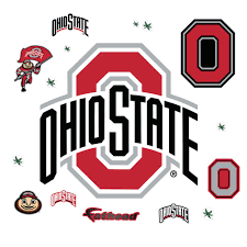 Fathead 38 In H X 38 In W Ohio State Buckeyes Logo Wall Mural 61 62052 The Home Depot