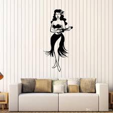 Hawaiian Girl Hula Dancer Wall Stickers Hawaii Ukulele Vinyl Wall Decal Baby Girl Nursery Kids Room Wall Decor Art Murals Wall Decals Uk Wall Decals Vinyl From Joystickers 10 85 Dhgate Com