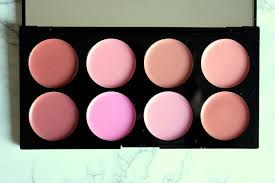 cream blush palette review swatch