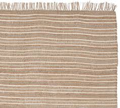 metallic striped jute rug swatch