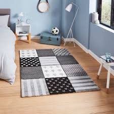 Brooklyn 20339 Childrens Stars And Hearts Pink And Grey Rug Land Of Rugs