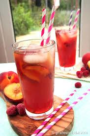 peach and raspberry iced tea a tipsy