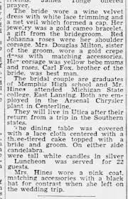 Hines, Harold Marriage to Hilda Fox (Part 2 of 2) - Newspapers.com