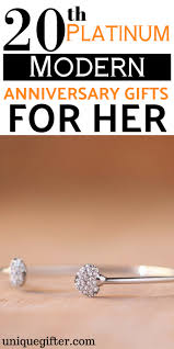 20th platinum anniversary gifts for her