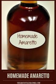 homemade amaretto almond liqueur