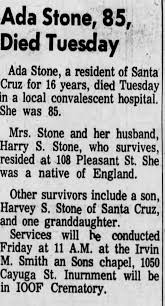 Obituary for Ada Stone (Aged 85) - Newspapers.com