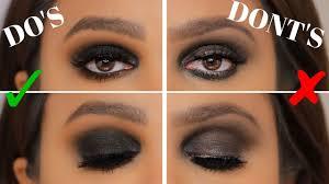 black smokey eyes for deep set eyes
