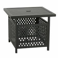 sunlife patio wood grain side table