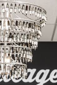 chandelier made of spark plugs